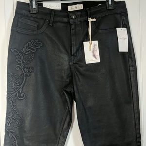 NWT Jessic Simpson coated high rise curvy jean 30